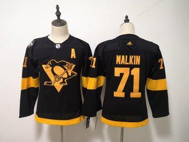 d9ac0b0e66f Penguins 71 Evgeni Malkin Black Women 2019 NHL Stadium Series Adidas Jersey