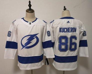 Lightning 86 Nikita Kucherov White Women Adidas Jersey