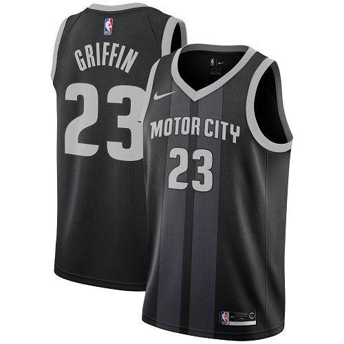 Nike Detroit Pistons #23 Blake Griffin Black NBA Swingman City Edition Jersey
