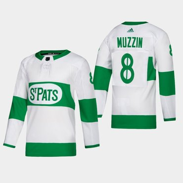Men's Toronto Maple Leafs #8 Jake Muzzin Toronto St. Pats Road Authentic Player White Jersey