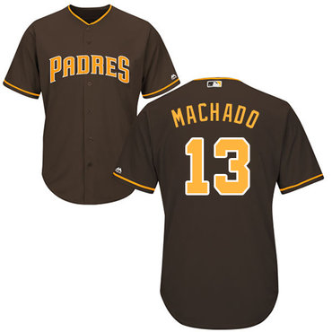 Men's San Diego Padres #13 Manny Machado Brown New Cool Base Stitched Baseball Jersey