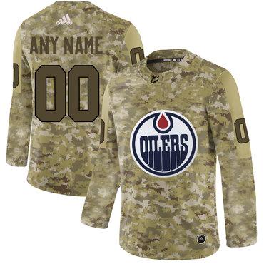 outlet store 1f79e 67c9a Edmonton Oilers Camo Men's Customized Adidas Jersey on sale ...