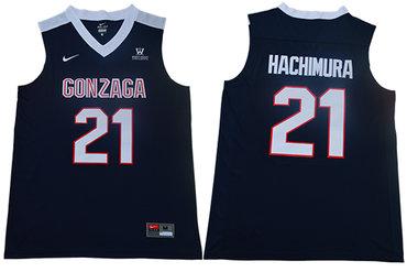 Gonzaga Bulldogs 21 Rui Hachimura Navy College Basketball Jersey