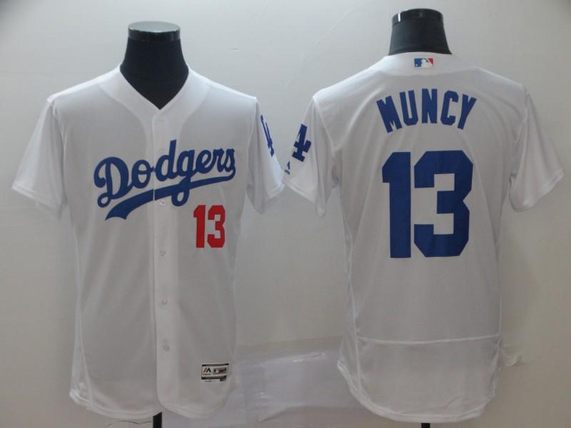 Men's Los Angeles Dodgers 13 Max Muncy White Flexbase Jersey