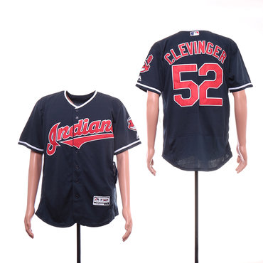 Men's Cleveland Indians 52 Mike Clevinger White Flexbase Jersey