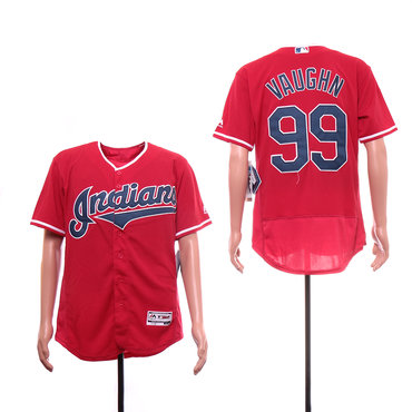 Men's Cleveland Indians 99 Ricky Vaughn Navy Red Jersey