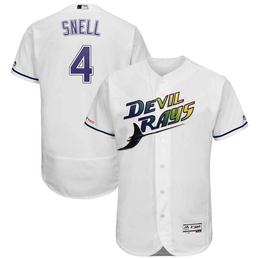 Men's Tampa Bay Rays 4 Blake Snell Turn Back The Clock 150th FlexBase Jersey
