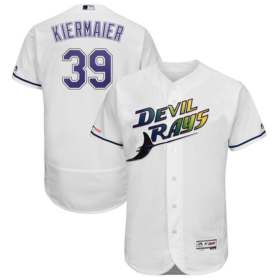 Men's Tampa Bay Rays 39 Kevin Kiermaier Turn Back The Clock 150th FlexBase Jersey