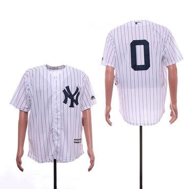 Men's New York Yankees 0 Adam Ottavino White Cool Base Jersey