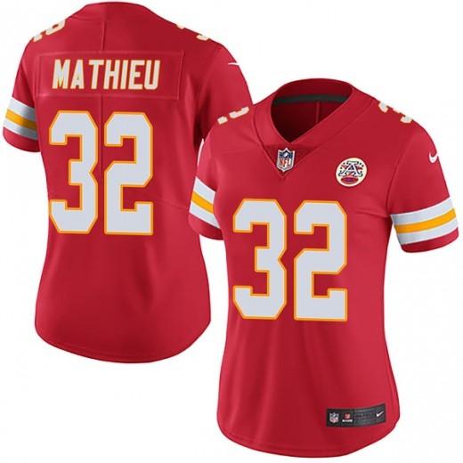 Women Kansas City Chiefs 32 Tyrann Mathieu Red Vapor Untouchable Limited Jersey
