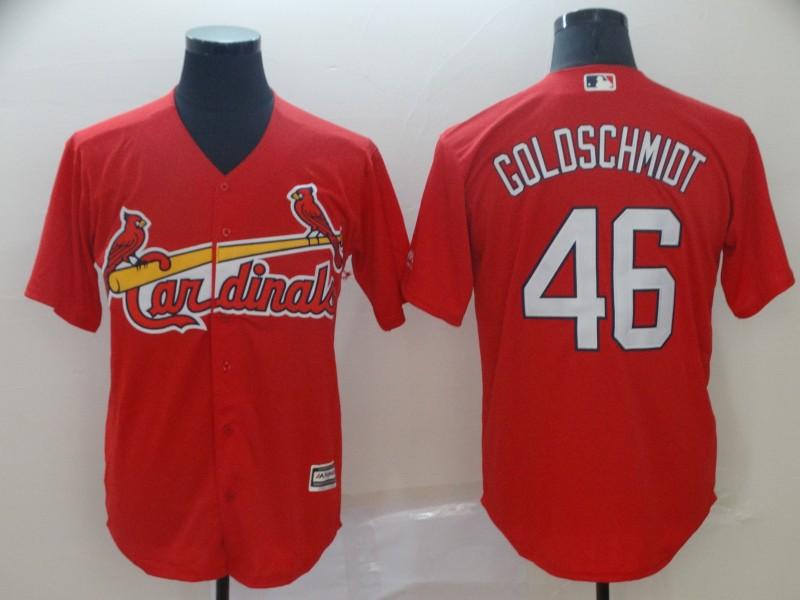 Men's St. Louis Cardinals 46 Paul Goldschmidt Red Cool Base Jersey