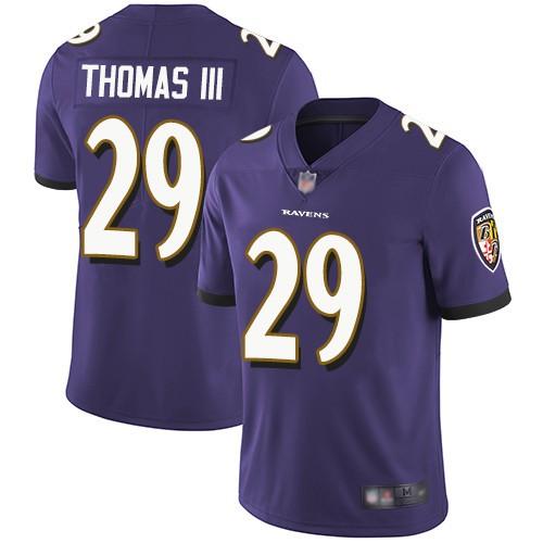 af61d90ec Nike Ravens 29 Earl Thomas III Purple Vapor Untouchable Limited Jersey