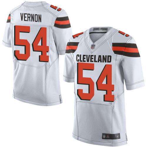Men's Cleveland Browns #54 Olivier Vernon White Men's Stitched Football New Elite Jersey