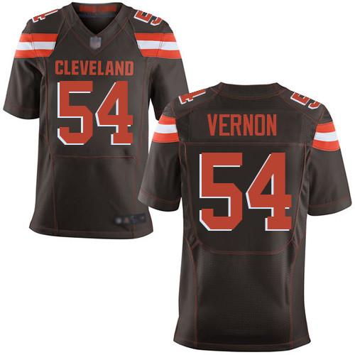 Men's Cleveland Browns #54 Olivier Vernon Brown Team Color Men's Stitched Football New Elite Jersey
