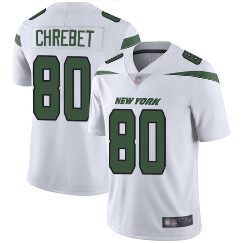New York Jets #80 Wayne Chrebet White Men's Stitched Football Vapor Untouchable Limited Jersey