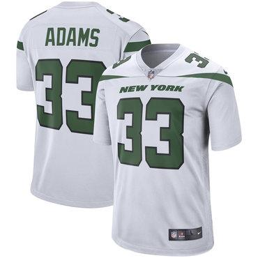 Size XXXXXXL Men's Nike New York Jets 33 Jamal Adams White New 2019 Vapor Untouchable Limited Jersey