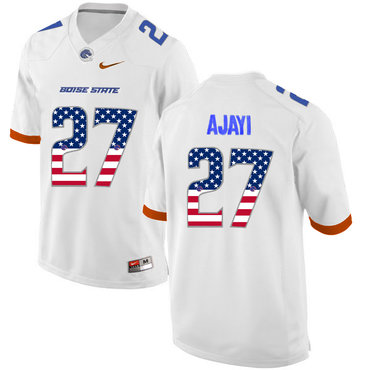 Boise State Broncos 27 Jay Ajayi White USA Flag College Football Jersey