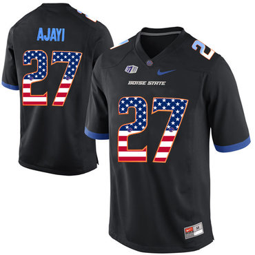 Boise State Broncos 27 Jay Ajayi Black USA Flag College Football Jersey