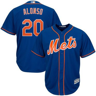 Men's New York Mets 20 Pete Alonso Royal Cool Base Jersey