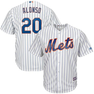 Men's New York Mets 20 Pete Alonso White Cool Base Jersey