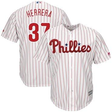 Men's Phillies 37 Odubel Herrera White Cool Base Jersey