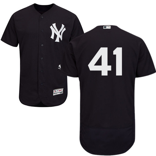 Men's New York Yankees #41 Miguel Andujar Navy Blue Flexbase Authentic Collection Stitched Baseball Jersey