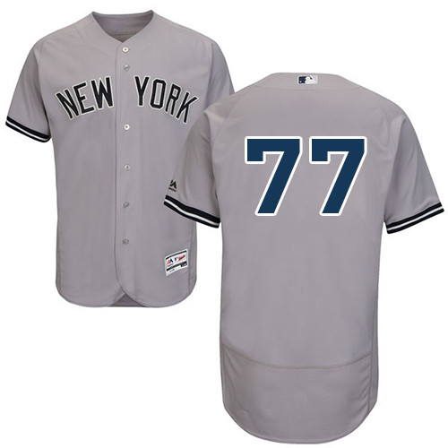 Men's New York Yankees #77 Clint Frazier Grey Flexbase Authentic Collection Stitched Baseball Jersey