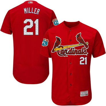 Men's St. Louis Cardinals #21 Andrew Miller Red Flexbase Authentic Collection Stitched Baseball Jersey