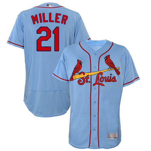 Men's St. Louis Cardinals #21 Andrew Miller Light Blue Flexbase Authentic Collection Stitched Baseball Jersey