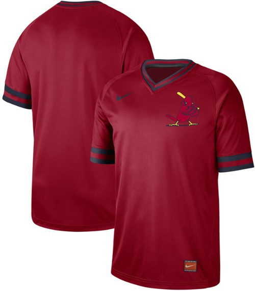 Men's St. Louis Cardinals Blank Red Authentic Cooperstown Collection Stitched Baseball Jersey