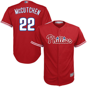 Men's Philadelphia Phillies #22 Andrew McCutchen Red New Cool Base Stitched Baseball Jersey