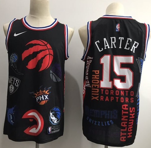 cb3a412746a Toronto Raptors  15 Vince Carter Red Black Resonate Fashion Jersey ...