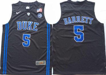 3b8aea0b49d Duke Blue Devils 5 RJ Barrett Black Nike College Basketball Jersey