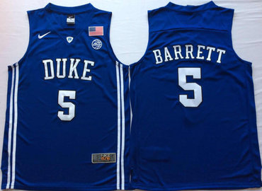 Duke Blue Devils 5 RJ Barrett Blue Elite Nike College Basketball Jersey
