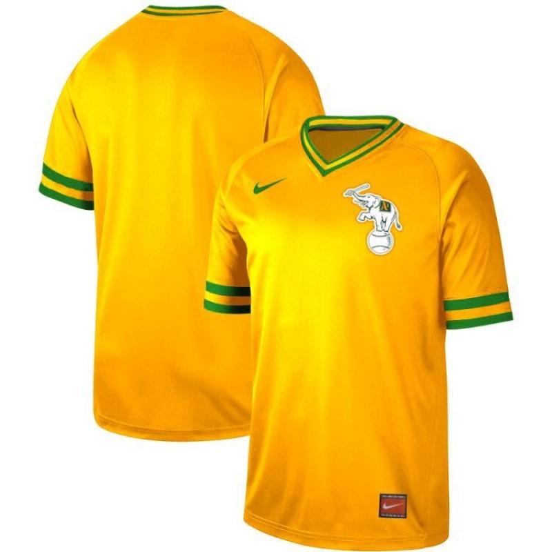 1ff63fbfe Men s Oakland Athletics Blank Yellow Throwback Jersey