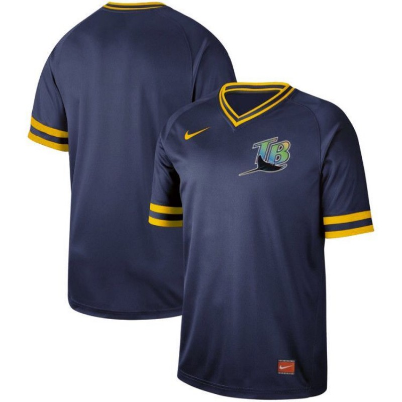 53990eb73ce Men s Tampa Bay Rays Blank Navy Throwback Jersey