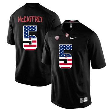 Stanford Cardinal 5 Christian McCaffrey Black USA Flag College Football Limited Jersey