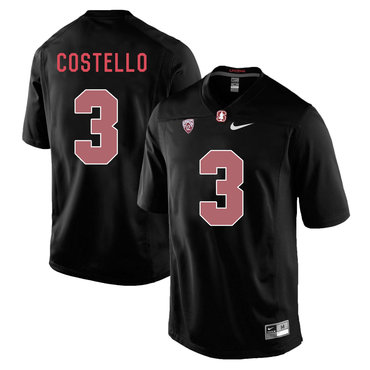 Stanford Cardinal 3 K.J. Costello Blackout College Football Jersey