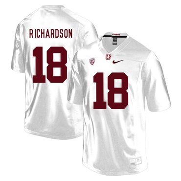 Stanford Cardinal 18 Jack Richardson White College Football Jersey