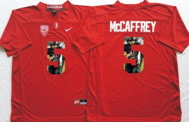 5ae5b54b Stanford Cardinal 5 Christian McCaffrey Red Portrait Number College Jersey