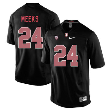 Stanford Cardinal 24 Quenton Meeks Blackout College Football Jersey