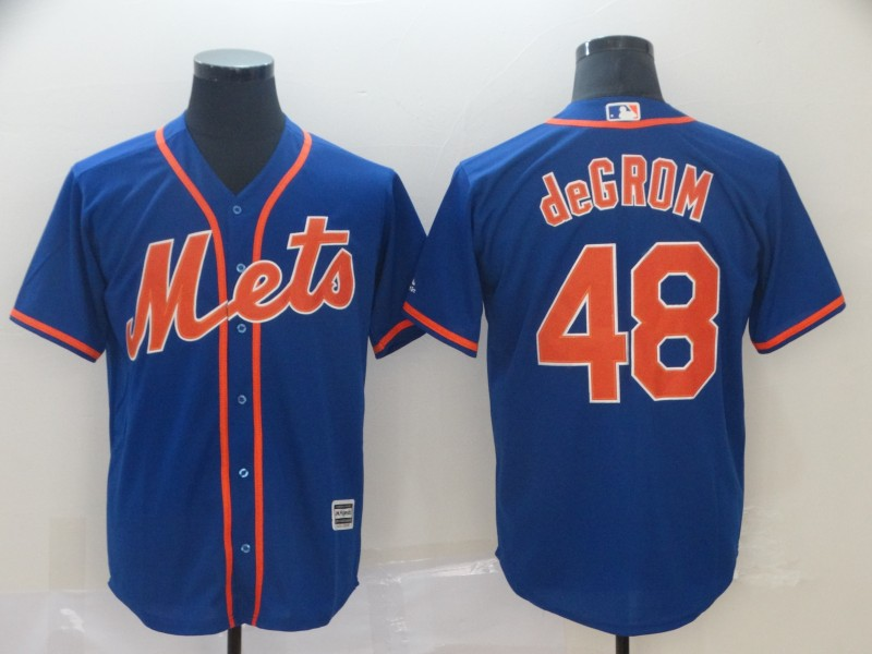 Men's New York Mets 48 Jacob deGrom Royal Cool Base Jersey