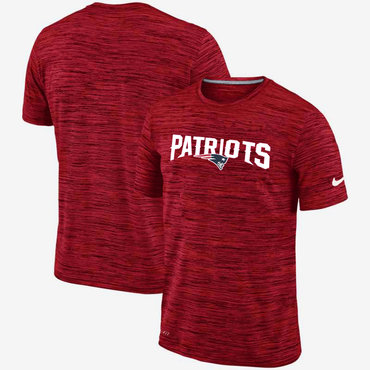 Nike New England Patriots Red Velocity Performance T-Shirt