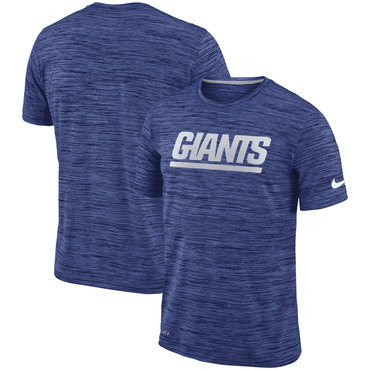 Nike New York Giants Royal Velocity Performance T-Shirt