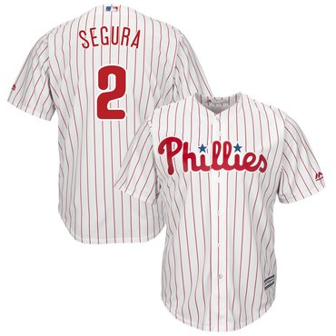 Men's Philadelphia Phillies #2 Jean Segura White Home Cool Base Jersey