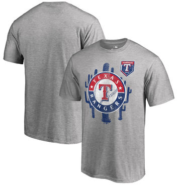 Texas Rangers Fanatics Branded 2018 MLB Spring Training Vintage T Shirt Heather Gray