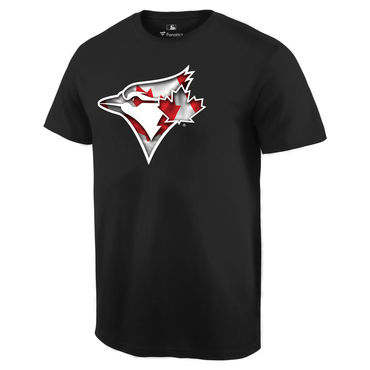 Men's Toronto Blue Jays Black Banner Wave T Shirt