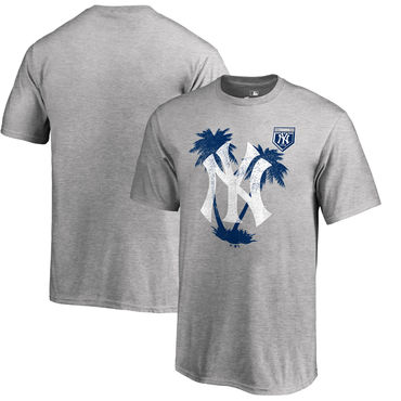 New York Yankees Fanatics Branded 2018 MLB Spring Training Vintage T Shirt Heather Gray