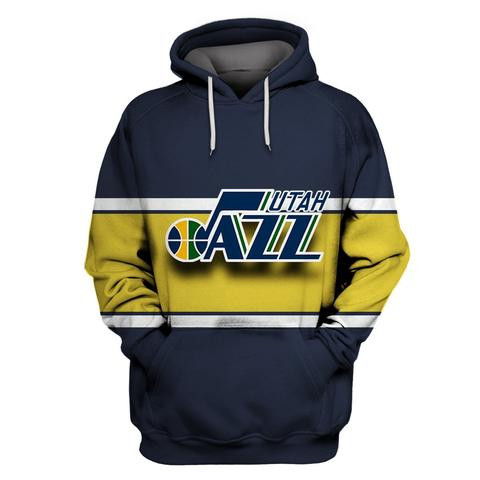 Jazz Navy All Stitched Hooded Sweatshirt