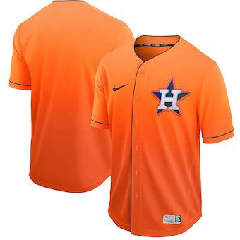 Men's Houston Astros Blank Orange Drift Fashion Jersey